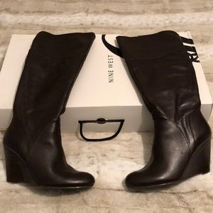 Nine West Brown Leather Boot